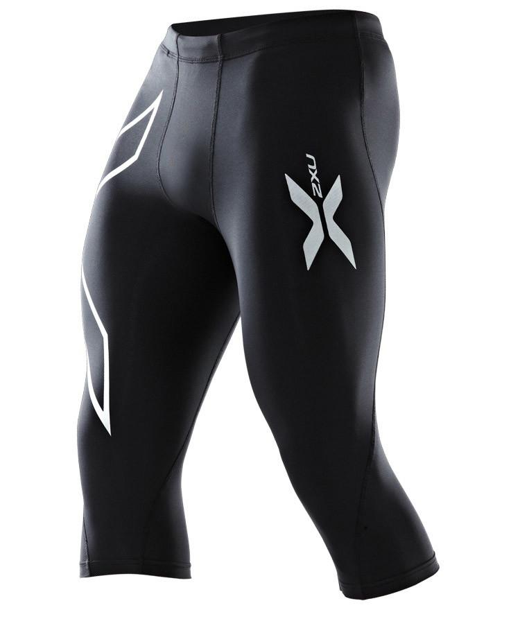 30b92bbd8e69 2XU Compression 3/4 Tights - Pantalons course pour Homme - Noir | 21RUN