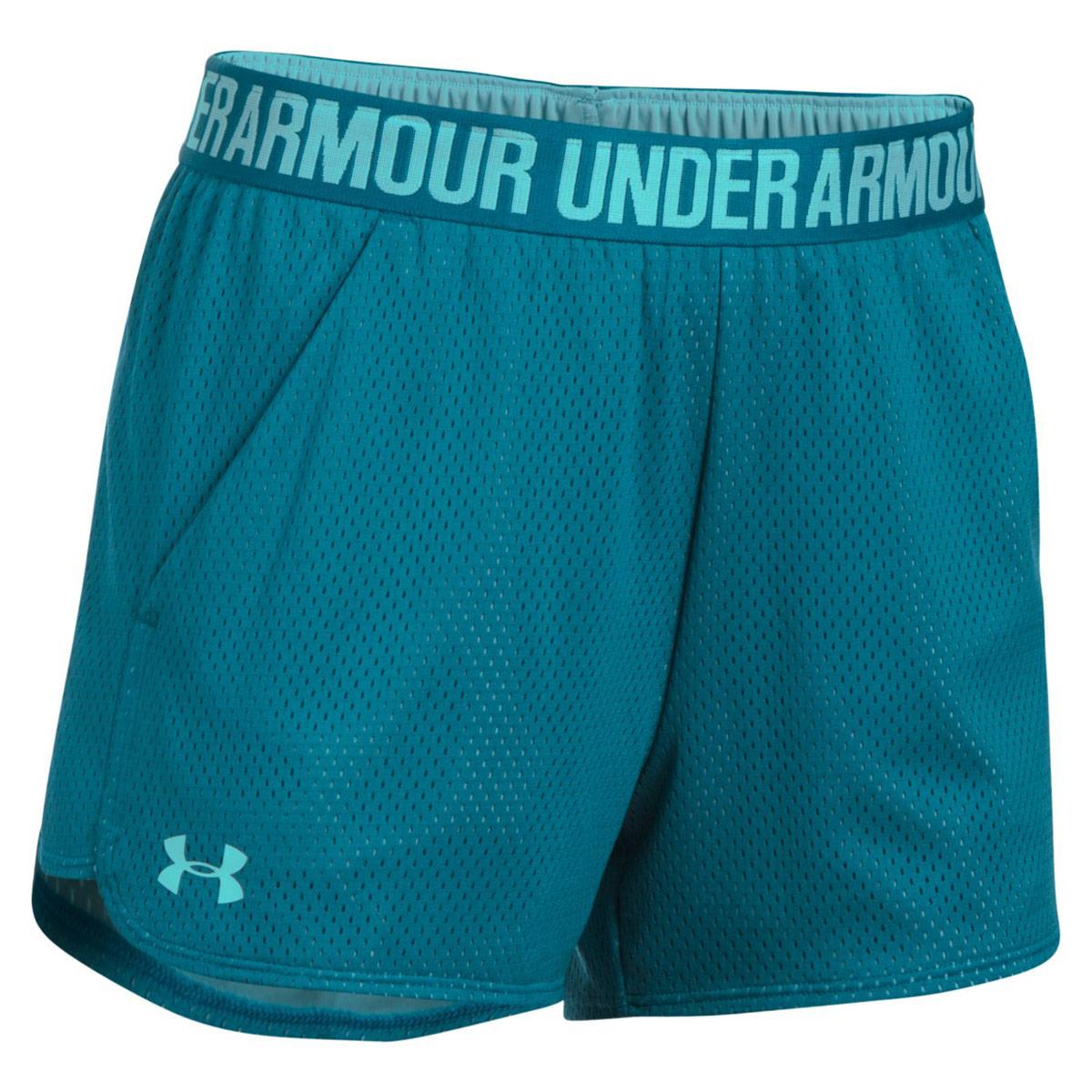 a7ac50506e87 Under Armour Play Up Short 2.0 Mesh - Pantalons fitness pour Femme - Bleu    21RUN