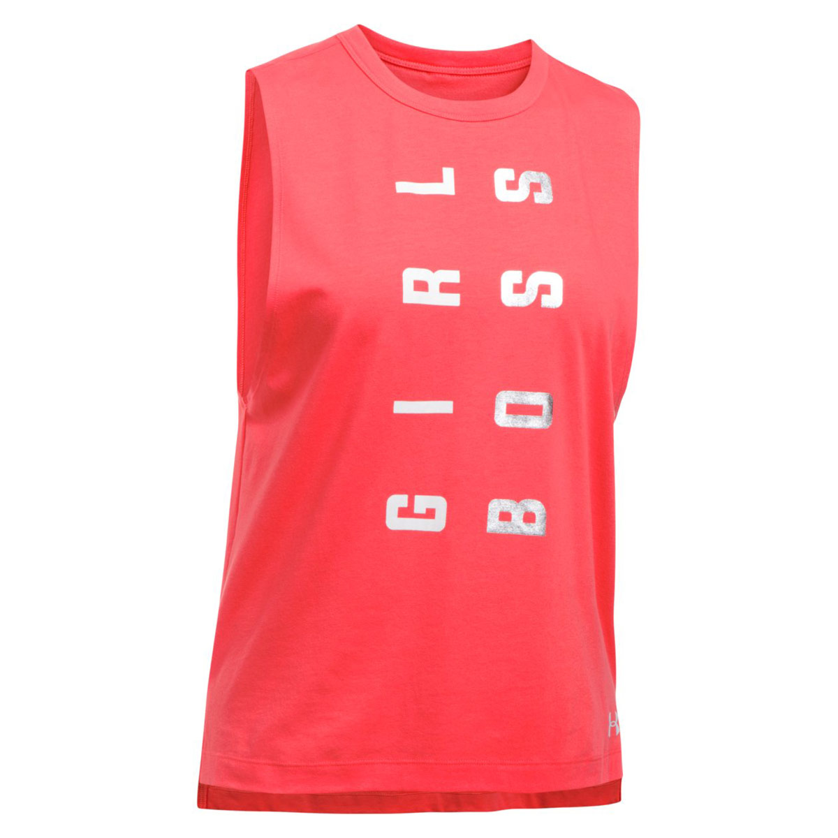 45ba9824 Under Armour Muscle Tank Girl Boss - Fitness tops for Women - Red | 21RUN