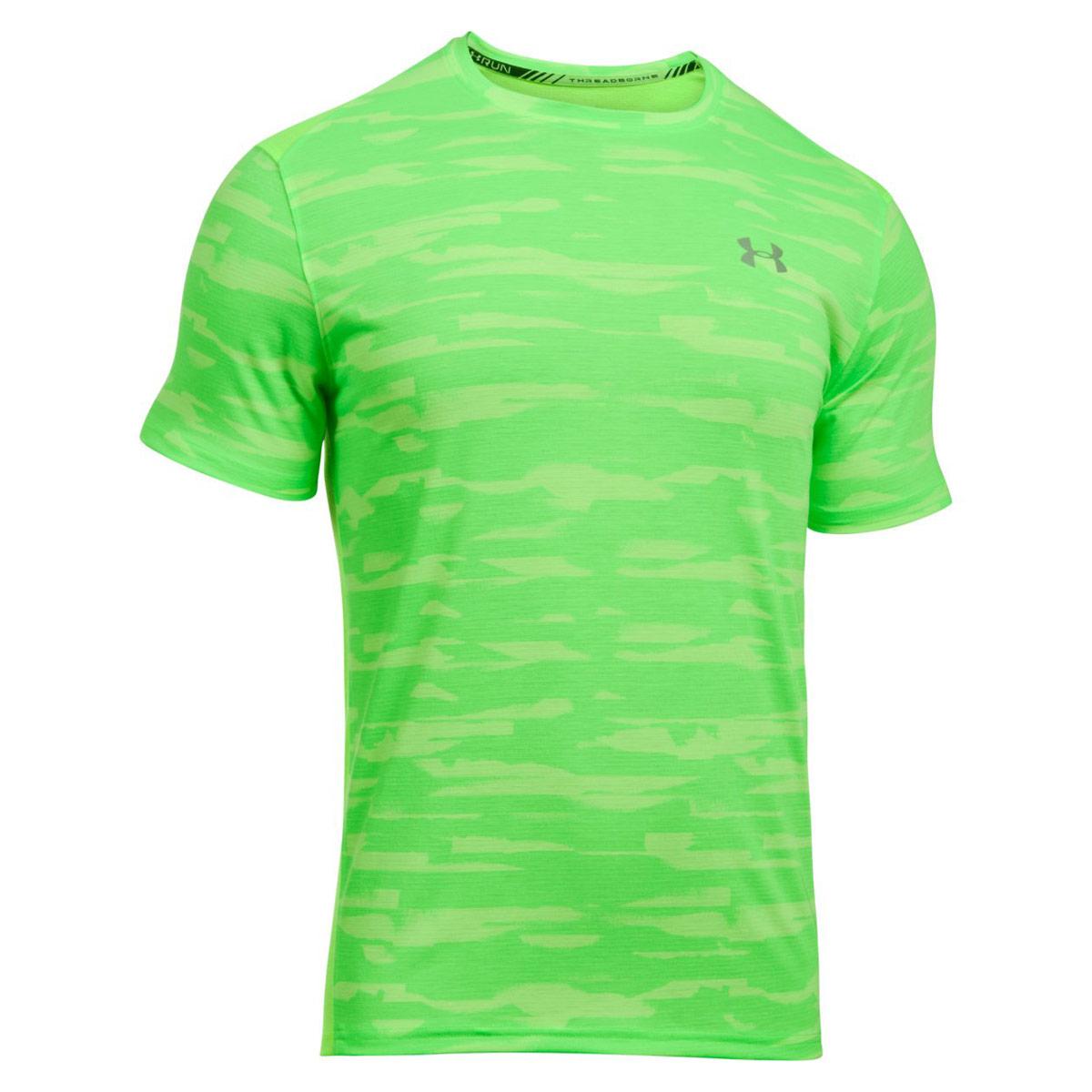 5438ea8c8f Under Armour Threadborne Run Mesh Short Sleeve - Running tops for Men -  Green