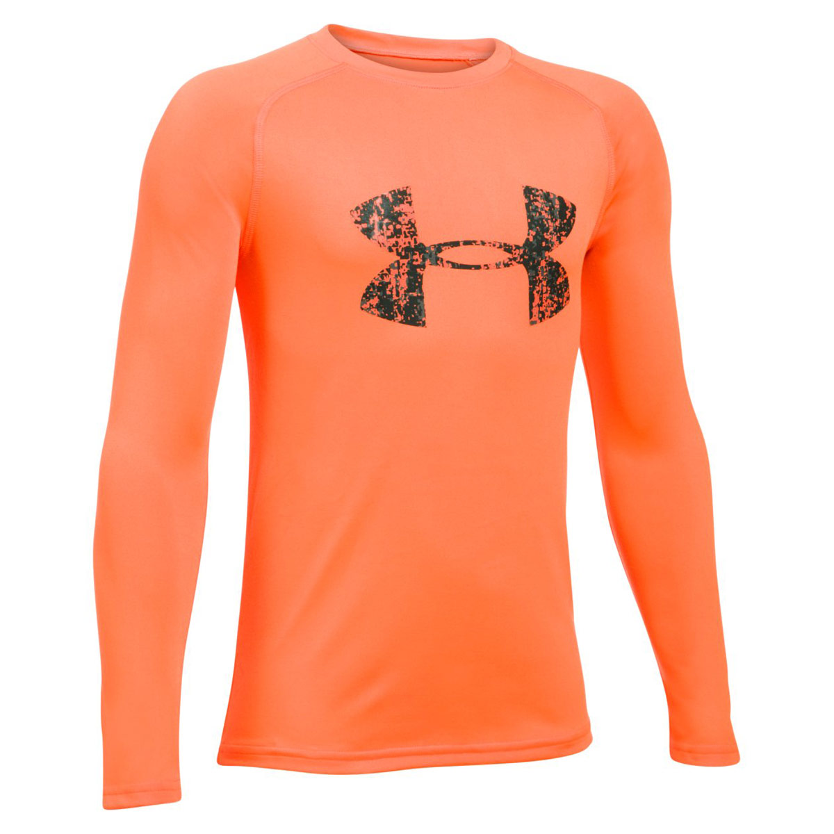 fbea819c Under Armour Big Logo Long Sleeve Tee - Fitness tops - Orange
