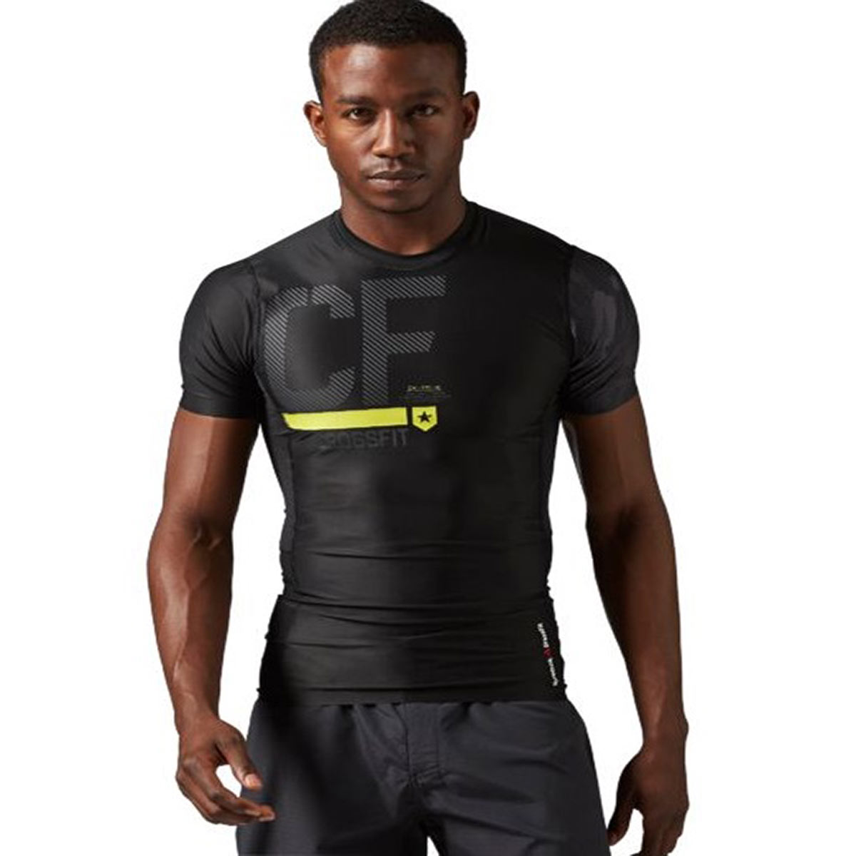 Reebok Crossfit Compression - Running tops for Men - Black  d0cdd425c