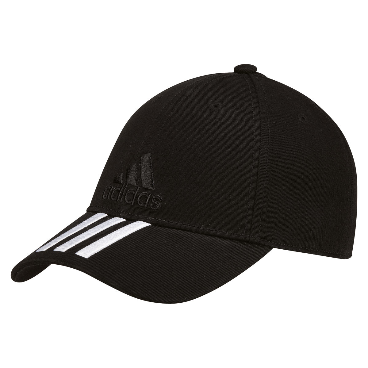 adidas 6 Panel Classic Cap 3 Stripes Cotton - Headdress - Black  78b2dc97e1b4