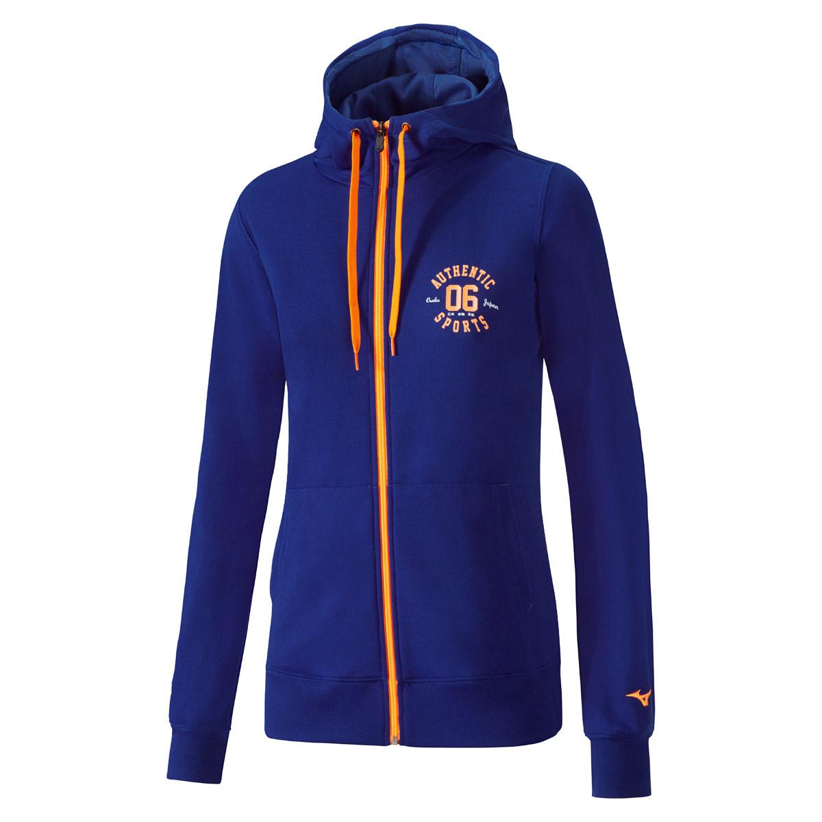 c1a7a7da7ca389 Mizuno Heritage Zip Hoody - Sweatshirts & Hoodies für Damen - Blau | 21RUN