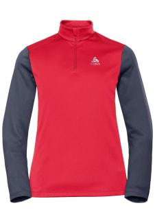 854cac4dc281 Odlo Midlayer 1 2 Zip Planches - Laufshirts für Damen - Rot