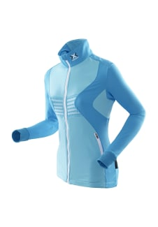 check out 0201d 303b7 X-Bionic Racoon Ski Shirt Long Sleeves Full Zip - Maillot de course pour  Femme