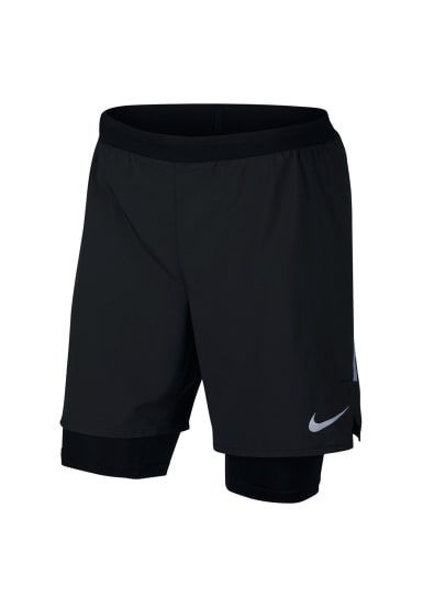 Nike Distance 2 in 1 7 inch men's running shorts Herren silber