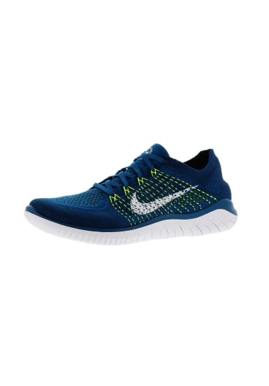 Nike Free RN Flyknit 2018 Chaussures running pour Homme Bleu