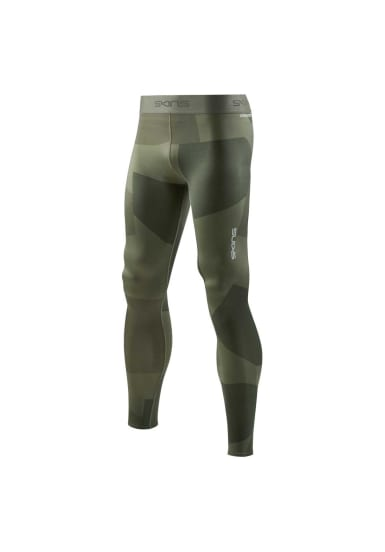 95c8f951aa631 Skins Dnamic Primary Long Tights - Running trousers for Men - Green ...