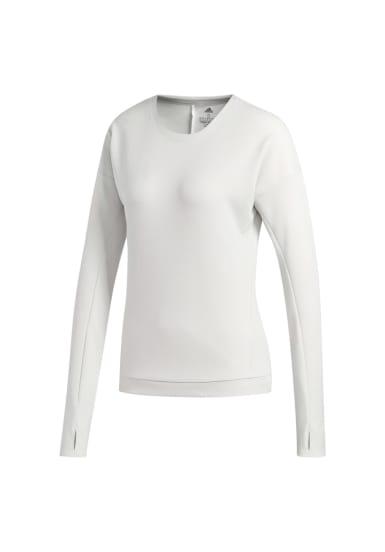 big sale a0dc5 3d86d adidas. Supernova Run Cru Sweatshirt - Maillot de course pour Femme - Blanc