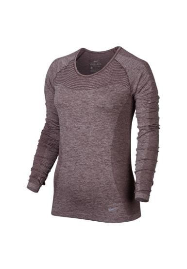 Nike Dri FIT Knit Running Top Maillot de course pour Femme Orange