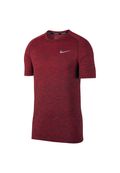 a7301976dbc89 Nike Dri-FIT Knit Running Top - Maillot de course pour Homme - Rouge ...