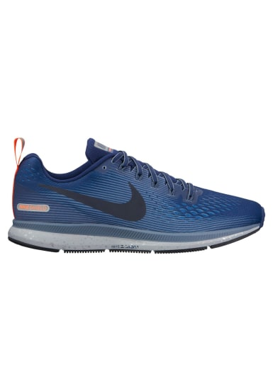 nike running shoes for men blue. nike air zoom pegasus 34 shield - running shoes for men blue l