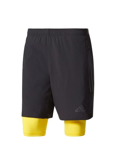 100% authentic 8c63f 4703e adidas Climacool Two-in-One Speed Shorts - Pantalons course pour Homme -  Noir