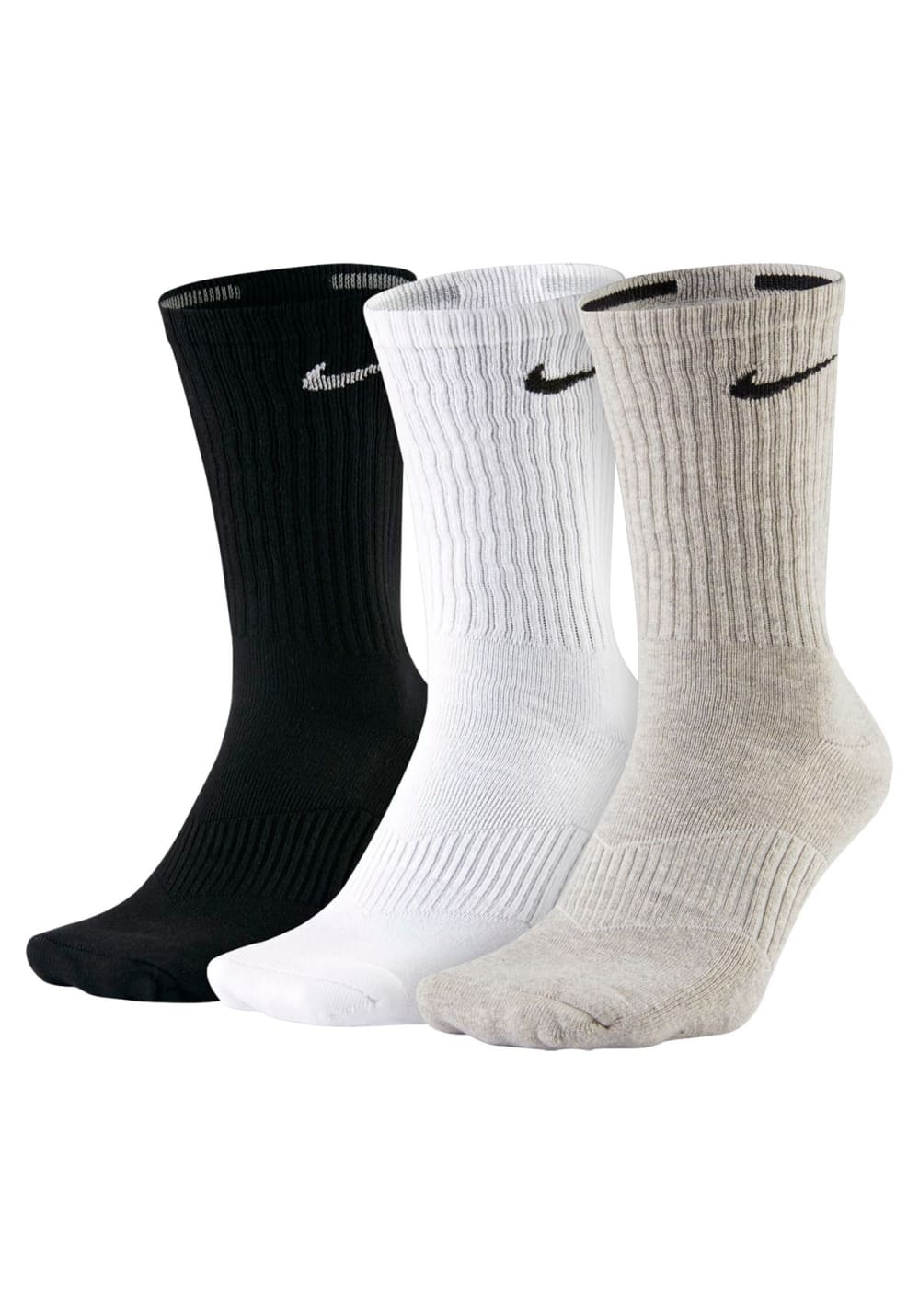 Nike 3PPK Cotton Cushion Crew Laufsocken - Grau, Gr. S