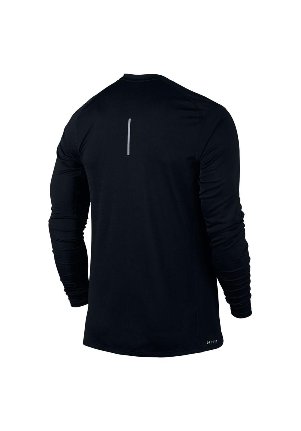 Nike Dry Miler Longsleeve - Laufshirts für Herren - Schwarz, Gr. XL