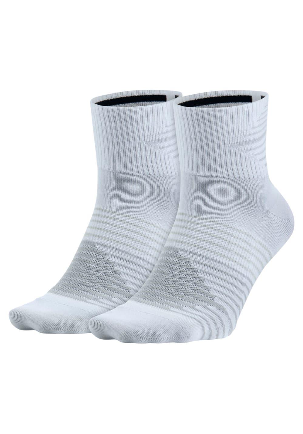Nike Lightweight Quarter Sock (2 Pair) Laufsocken - Weiß, Gr. M