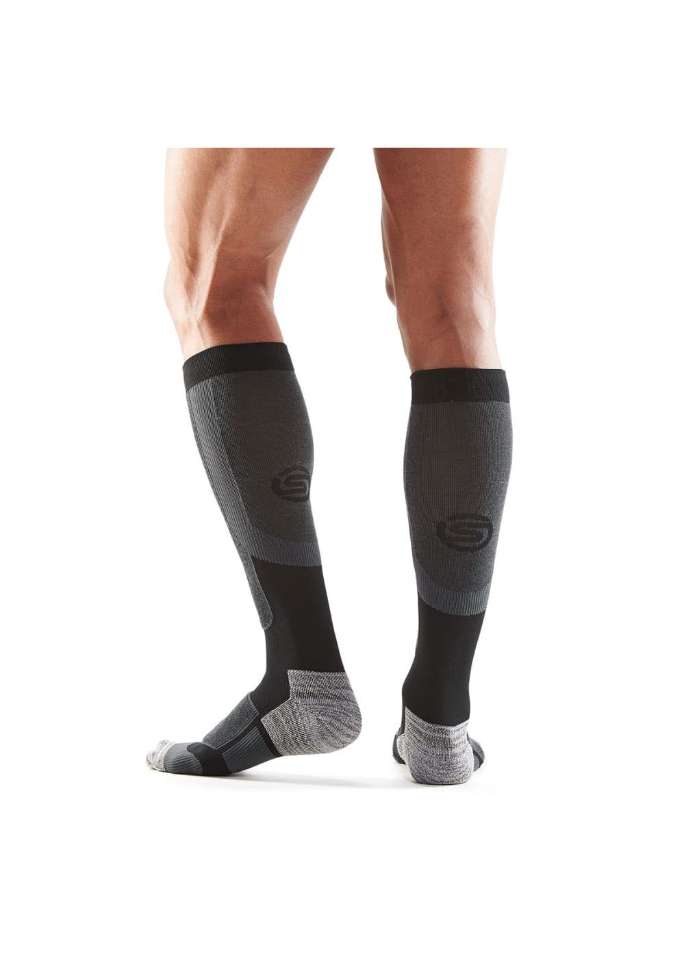 Skins Essentials Comp Socks Active - Laufsocken für Herren - Schwarz, Gr. L