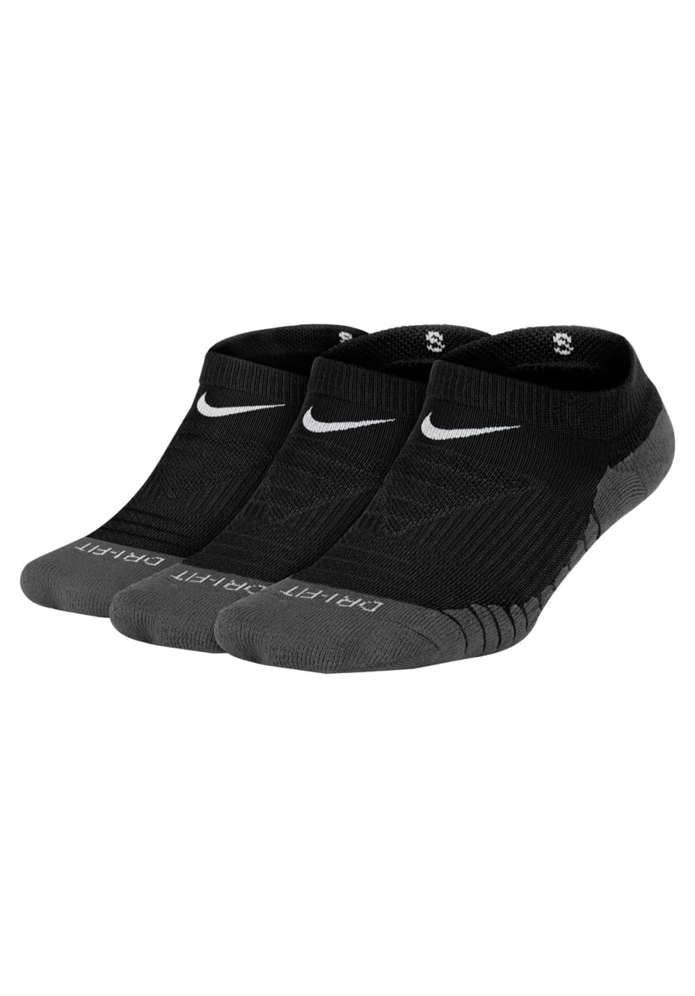 Nike Kids' Dry Cushion No-Show Sock (3 Pair) - Laufsocken für Kinder Unisex - S