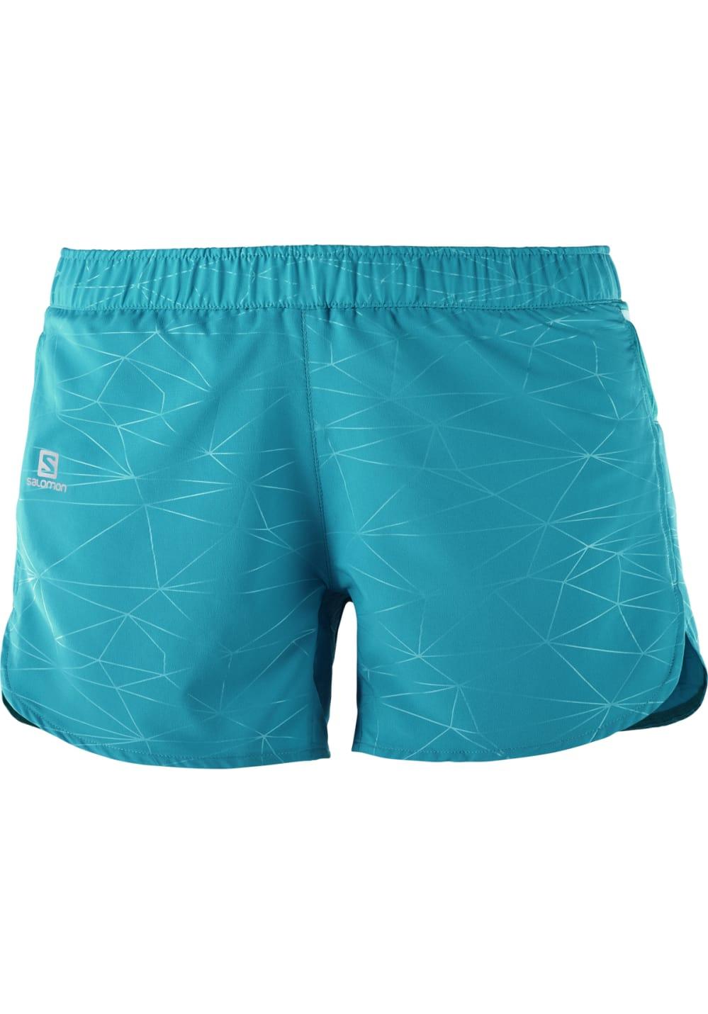 Sportmode für Frauen - Salomon Trail Runner Short Laufhosen für Damen Blau  - Onlineshop 21Run