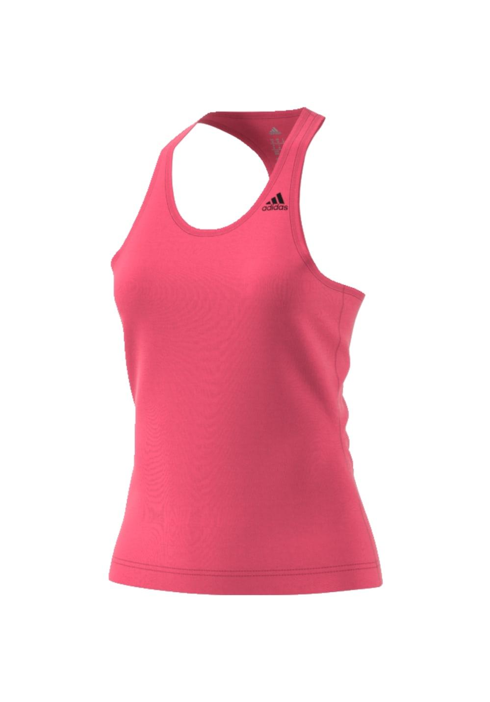 adidas D2M Tank Solid - Fitnessshirts für Damen - Pink