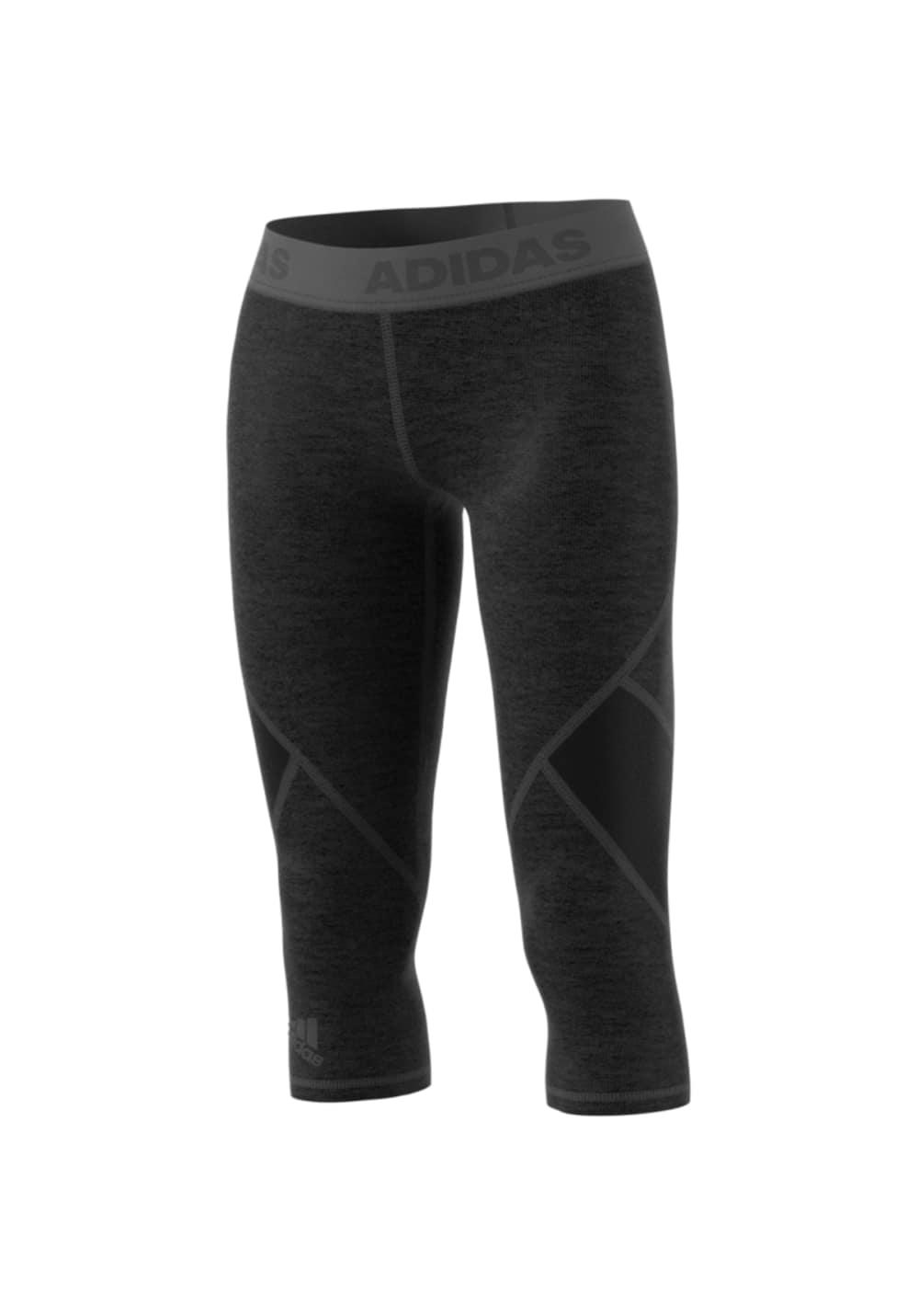 adidas Alphaskin Sprt Tight 34 Heather - Fitnesshosen für Damen - Grau