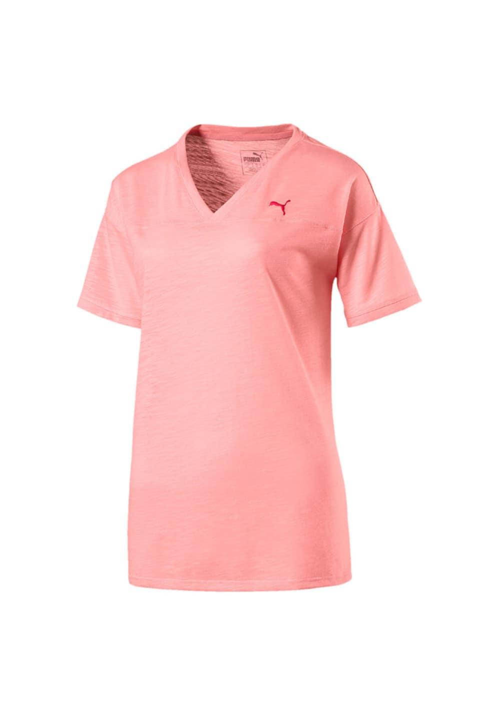 Puma Boyfriend Tee - Laufshirts für Damen - Pink, Gr. M