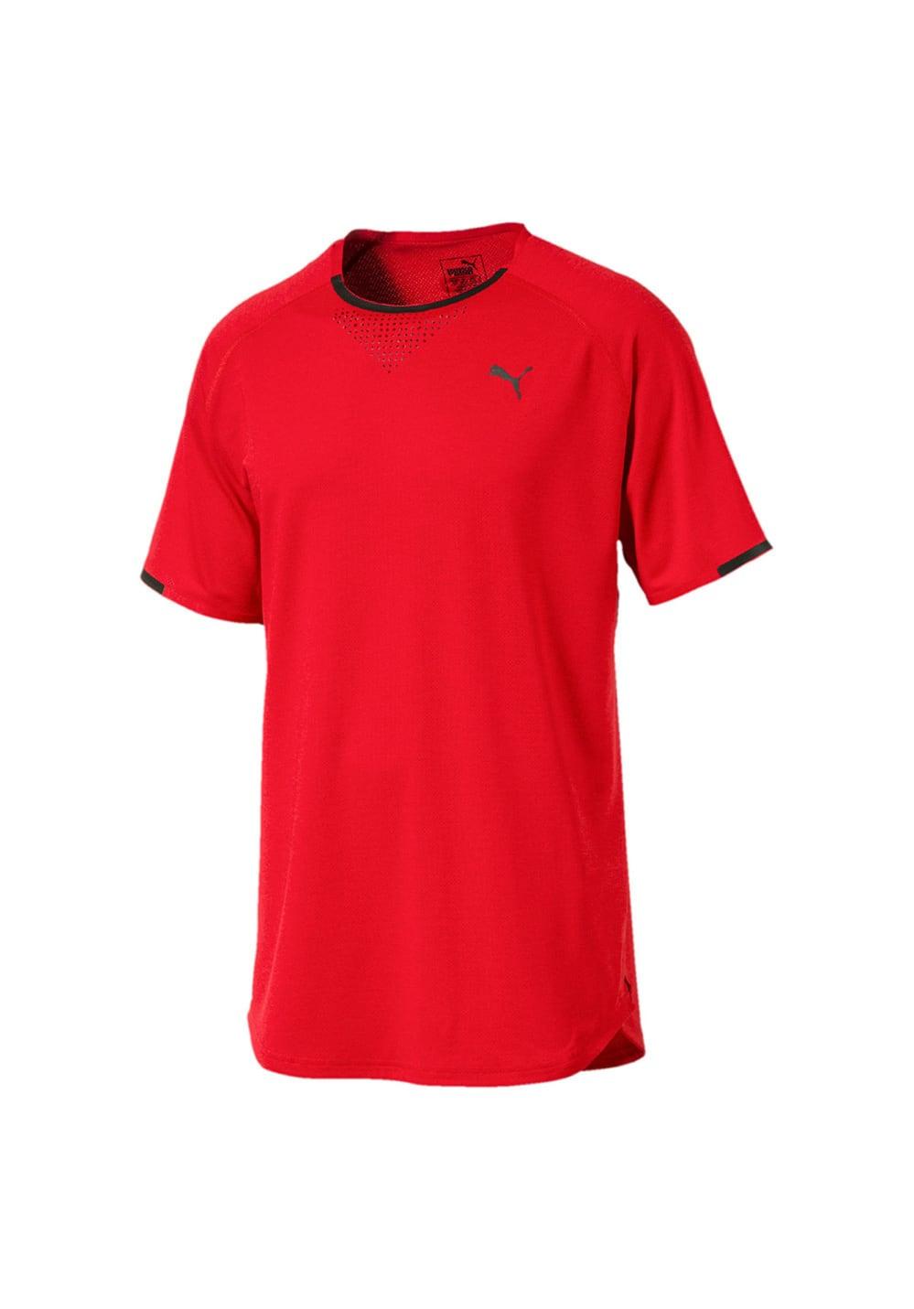Puma Energy Laser Short Sleeve Tee - Laufshirts für Herren - Rot, Gr. S