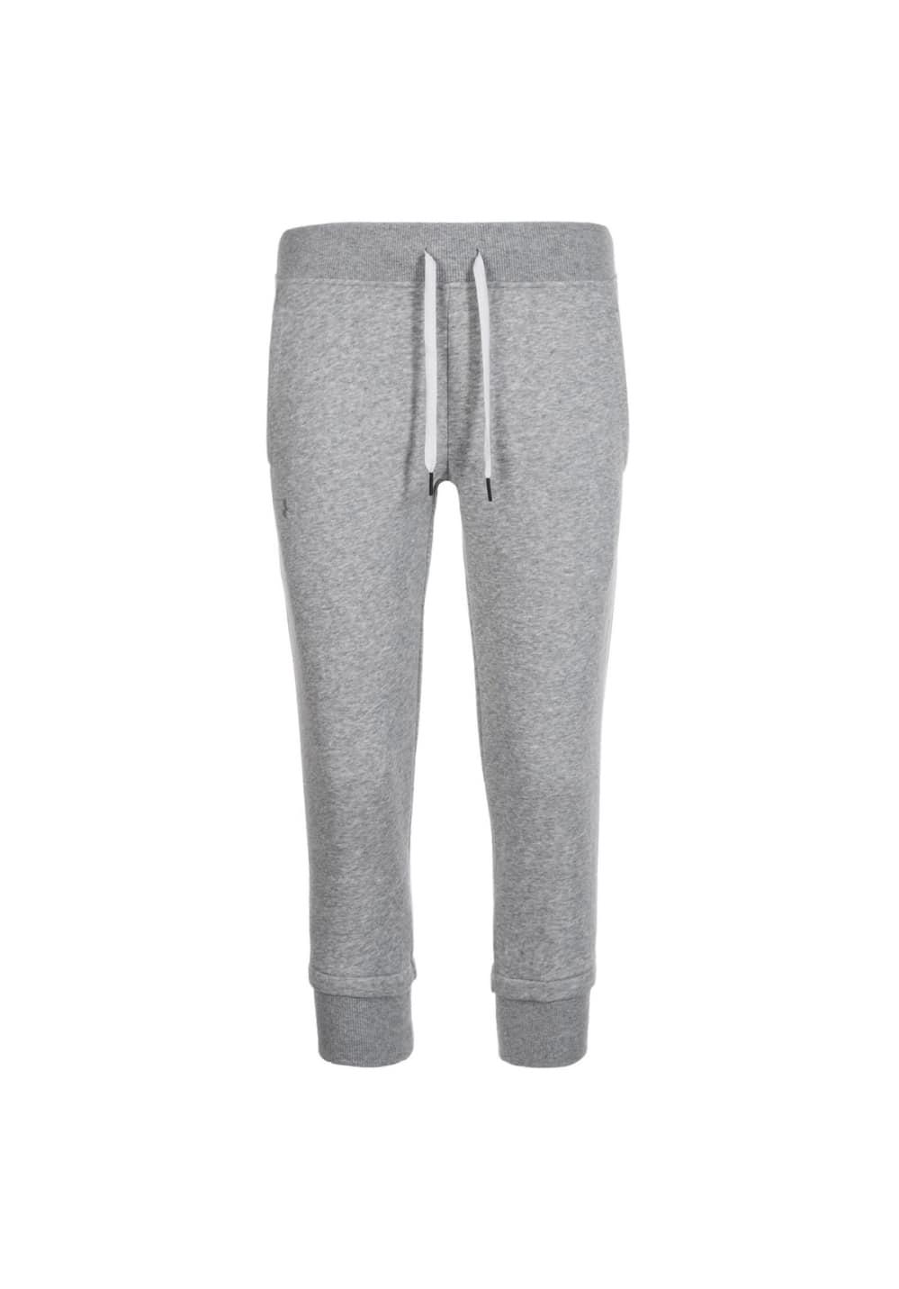 Under Armour Slim Leg Fleece Crop - Laufhosen für Damen - Grau