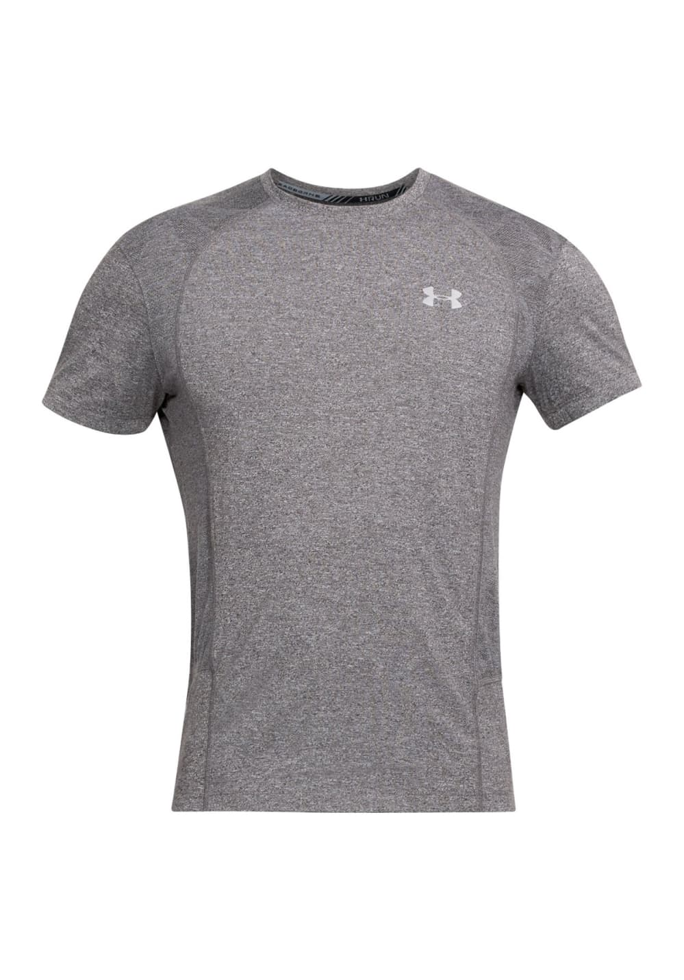 under armour threadborne swyft short sleeve tee laufshirts f r herren grau 21run. Black Bedroom Furniture Sets. Home Design Ideas