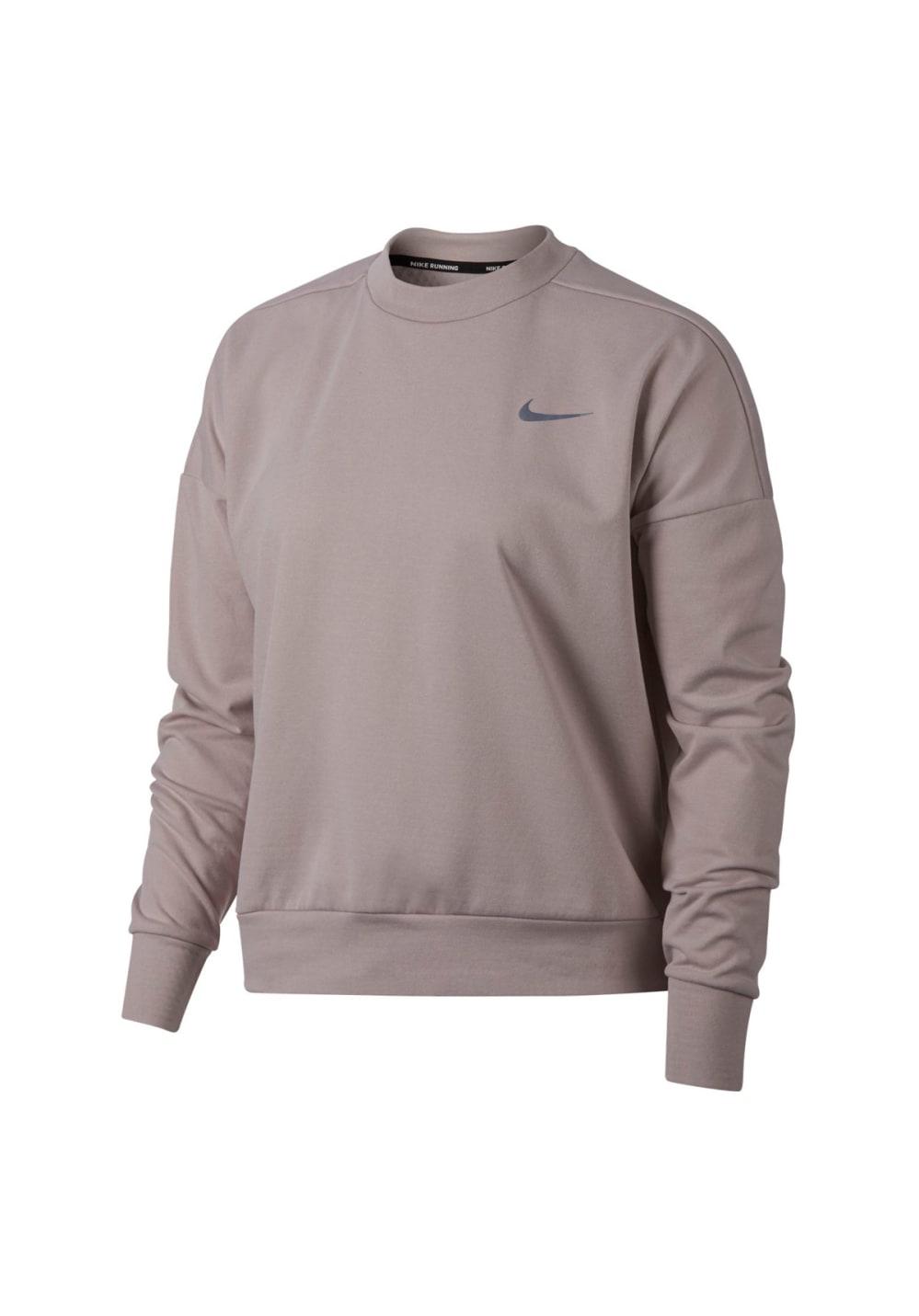 Nike Therma Sphere Element Running Top Laufshirts für Damen Grau
