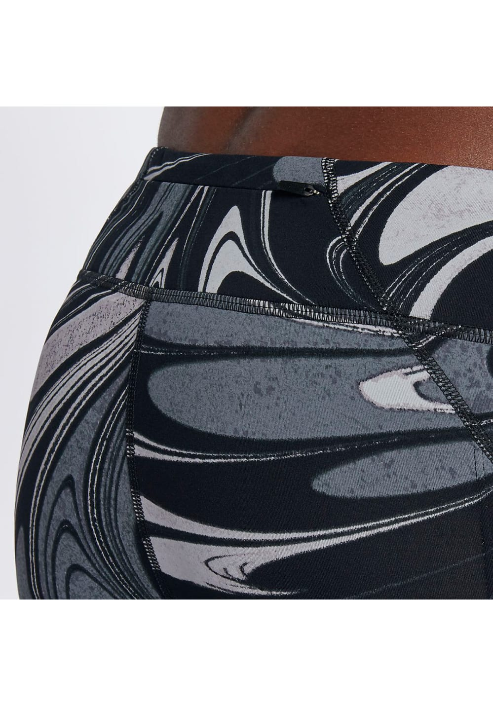 Nike Power Epic Lux Running Crops - Laufhosen für Damen - Grau, Gr. XS