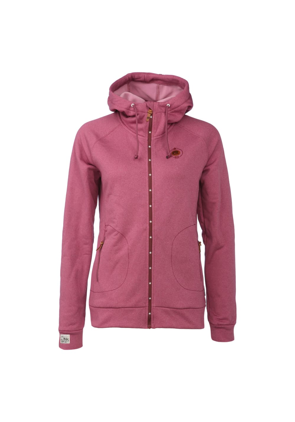 Maloja KathyM. Hooded Fleece Jacket - Laufjacken für Damen - Rot, Gr. L