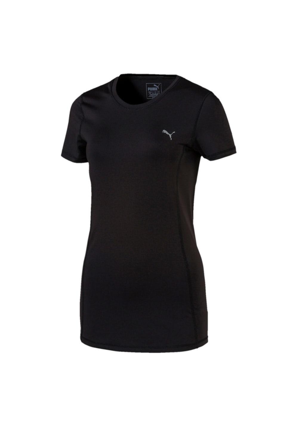 Puma Essential Runner Tee - Laufshirts für Damen - Schwarz, Gr. XL