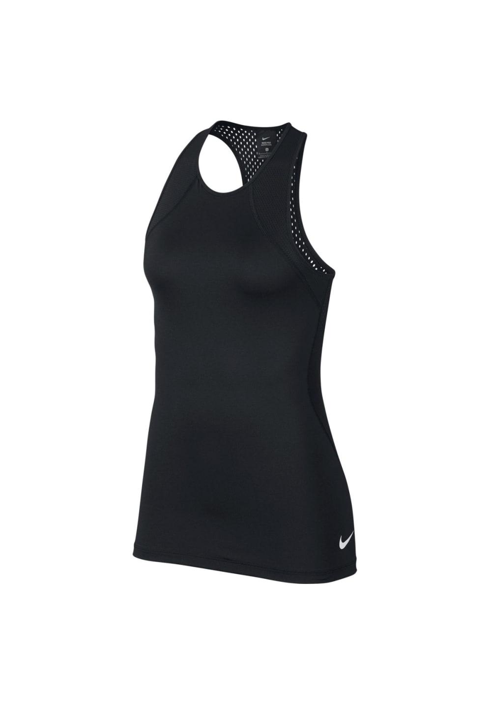 Nike Pro Hypercool Tank - Laufshirts für Damen - Schwarz, Gr. L
