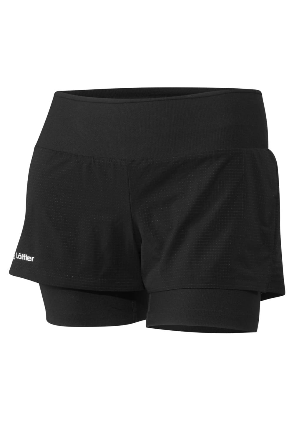 Löffler Funktions-shorts 2in1 - Laufhosen für Damen - Grau, Gr. 38