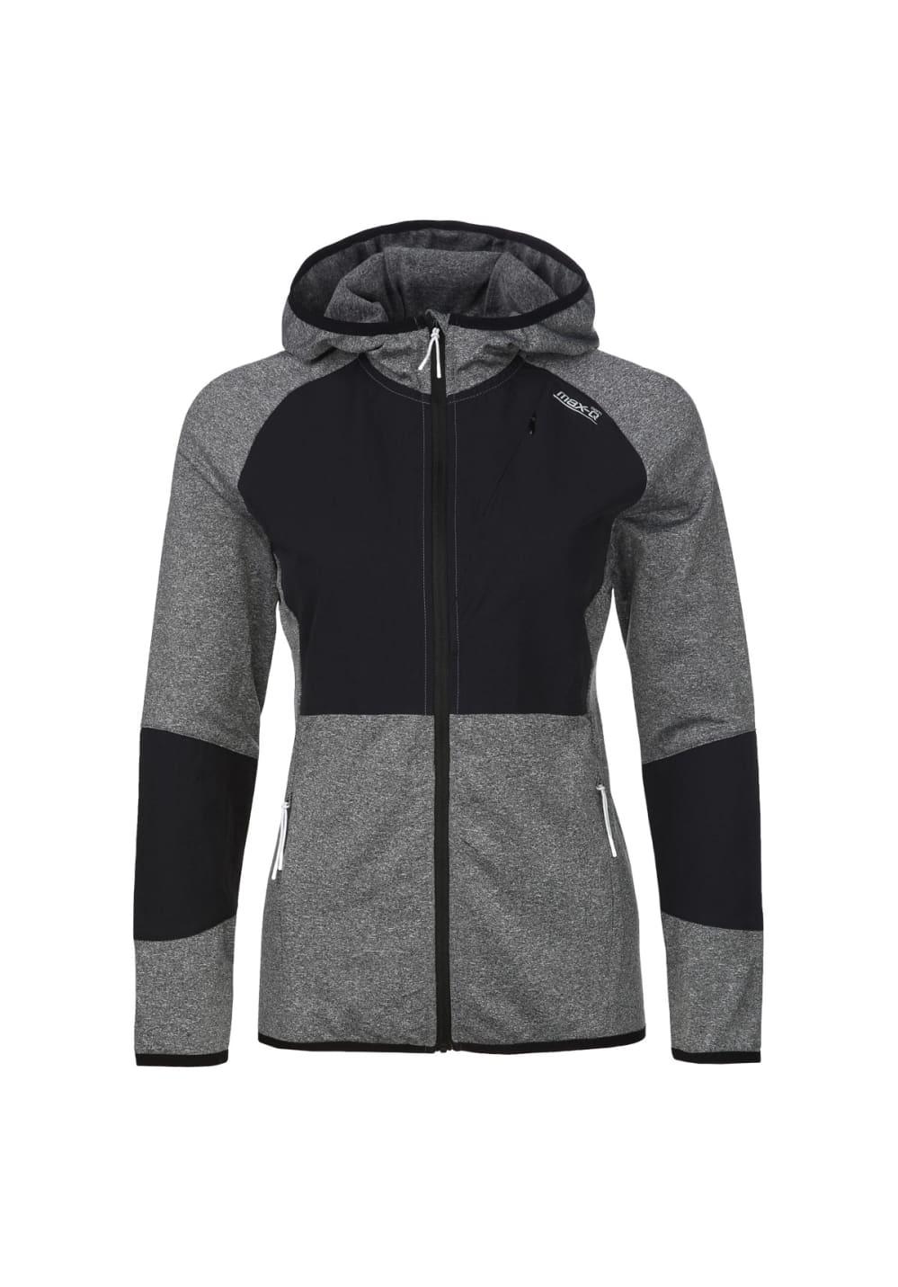 max-Q.com Flexx Hoody Jacket - Laufjacken für Damen - Grau, Gr. L