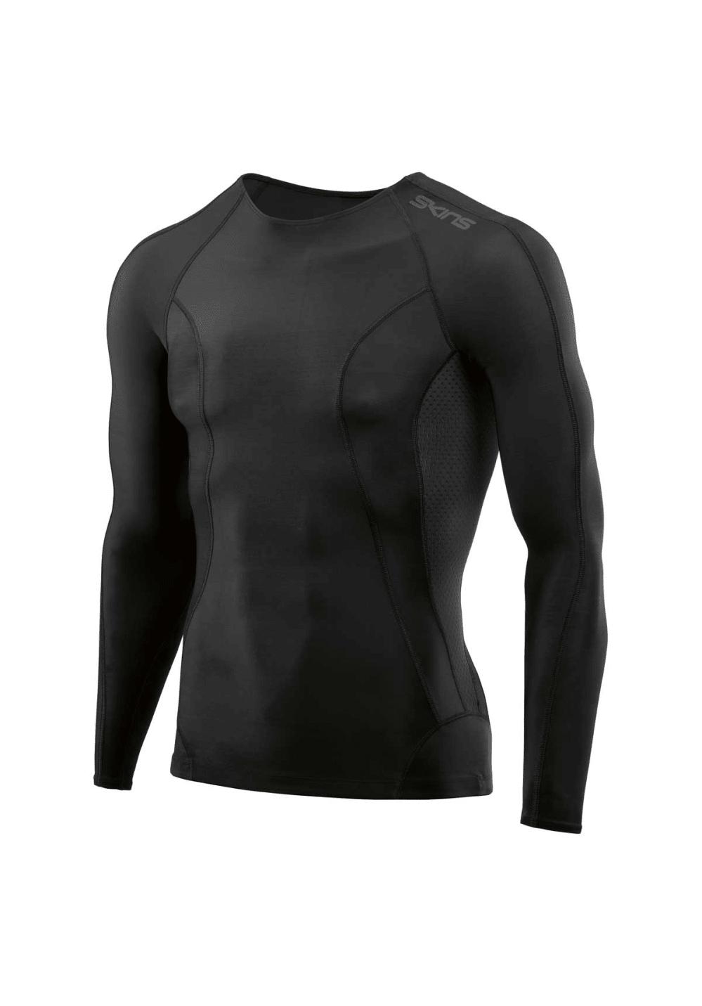 Skins Dnamic-long Sleeve Top - Laufshirts für Herren - Schwarz, Gr. S