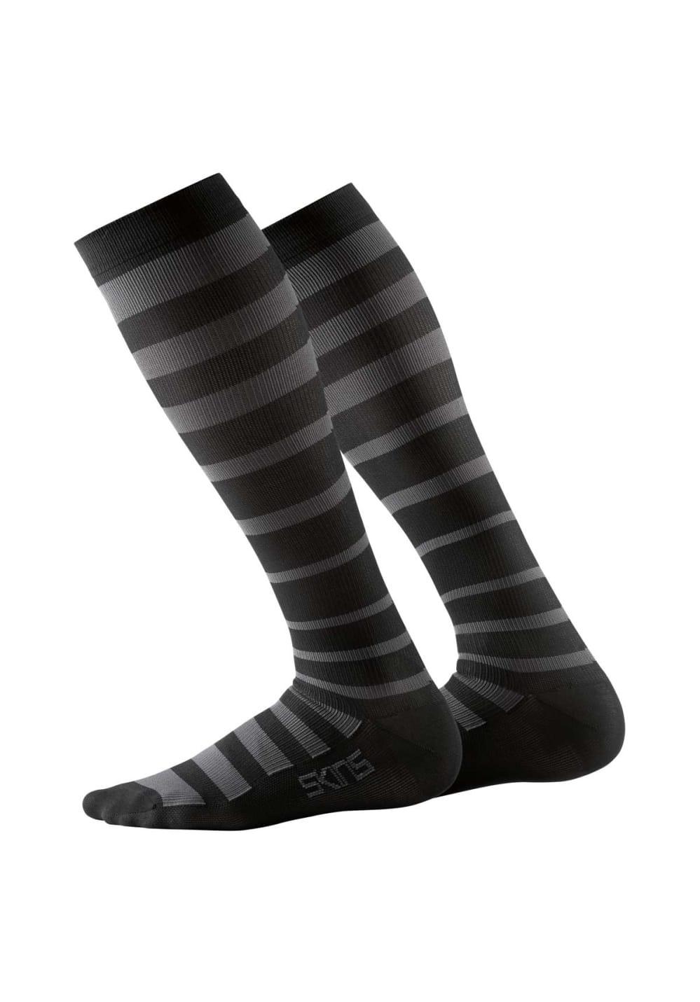 Skins Recovery Compression Socks - Laufsocken für Herren - Schwarz, Gr. XL