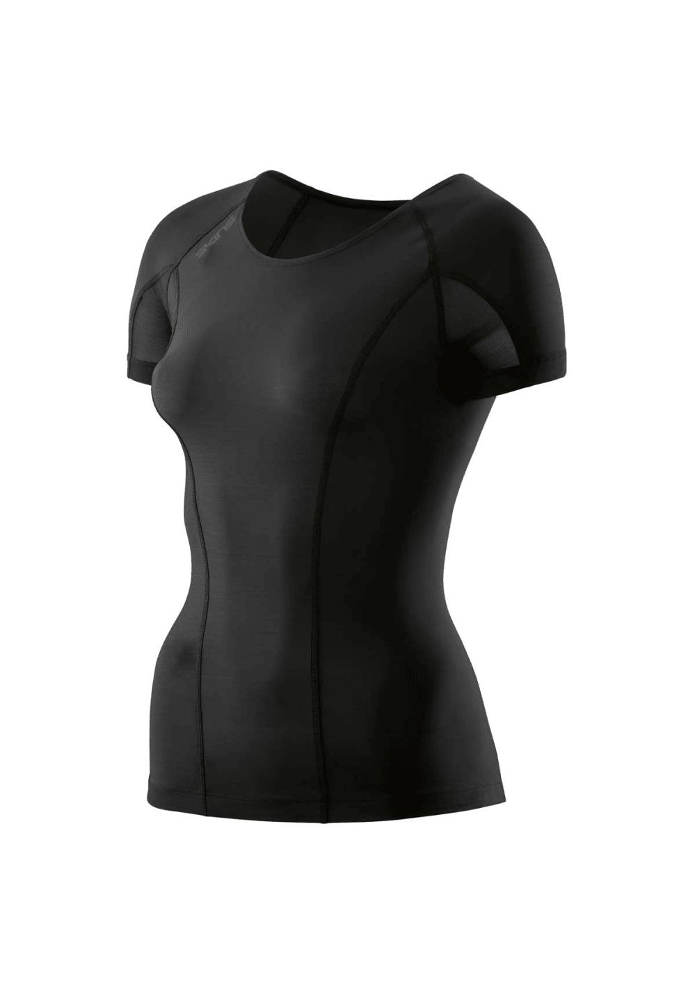Skins Dnamic-short Sleeve Top - Laufshirts für Damen - Schwarz, Gr. S