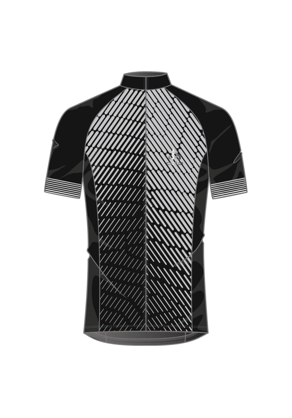 Odlo Stand-Up Collar Short Sleeve Full Zip - Radtrikots für Herren - Schwarz, G