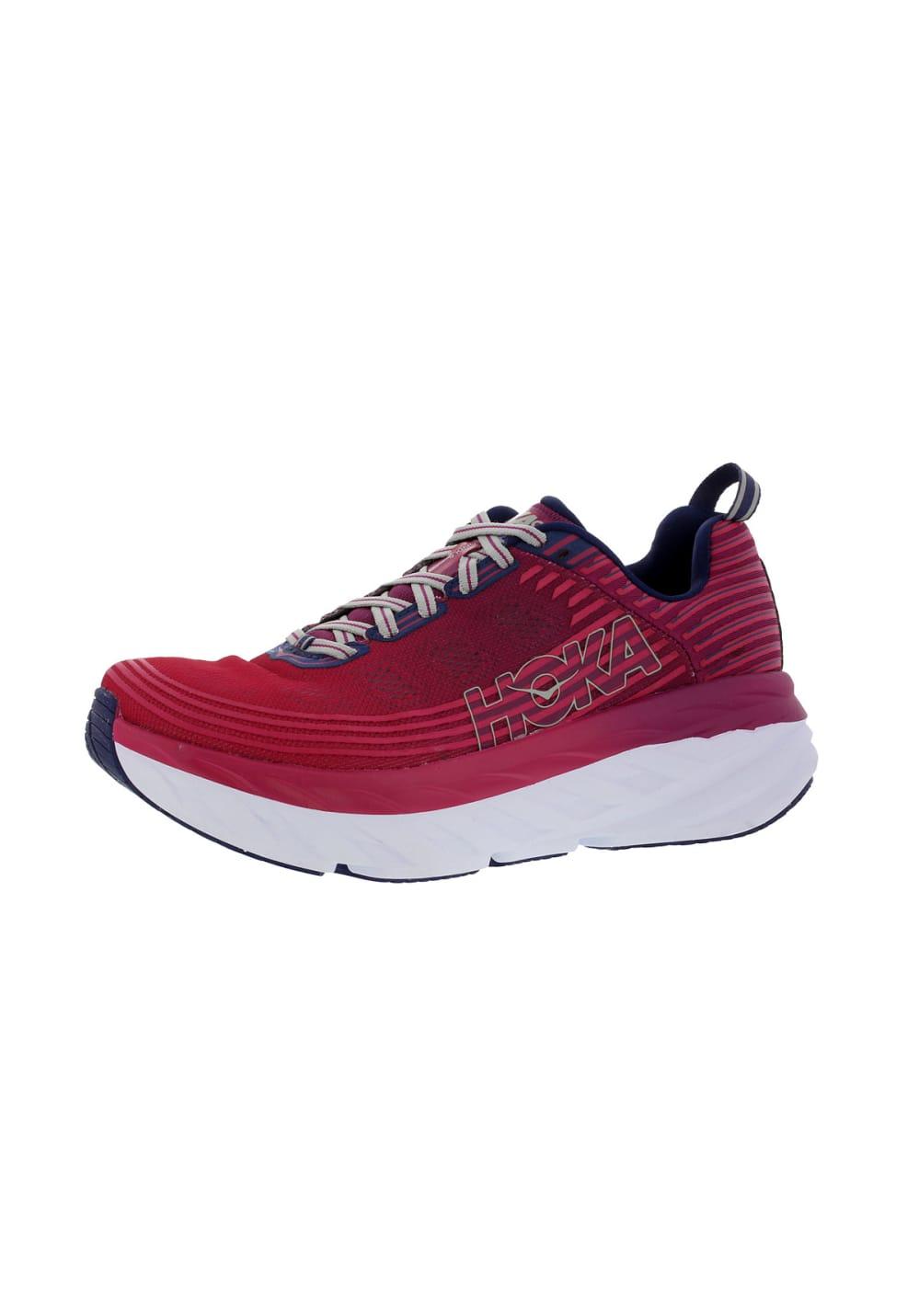 Sportschuhe für Frauen - Hoka OneOne Bondi 6 Laufschuhe für Damen Rot  - Onlineshop 21Run