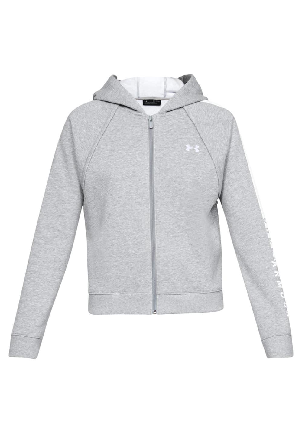 Under Armour Rival Fleece Full Zip Hoodie - Sweatshirts   Hoodies für Damen  - Grau günstig 47e1368dd7