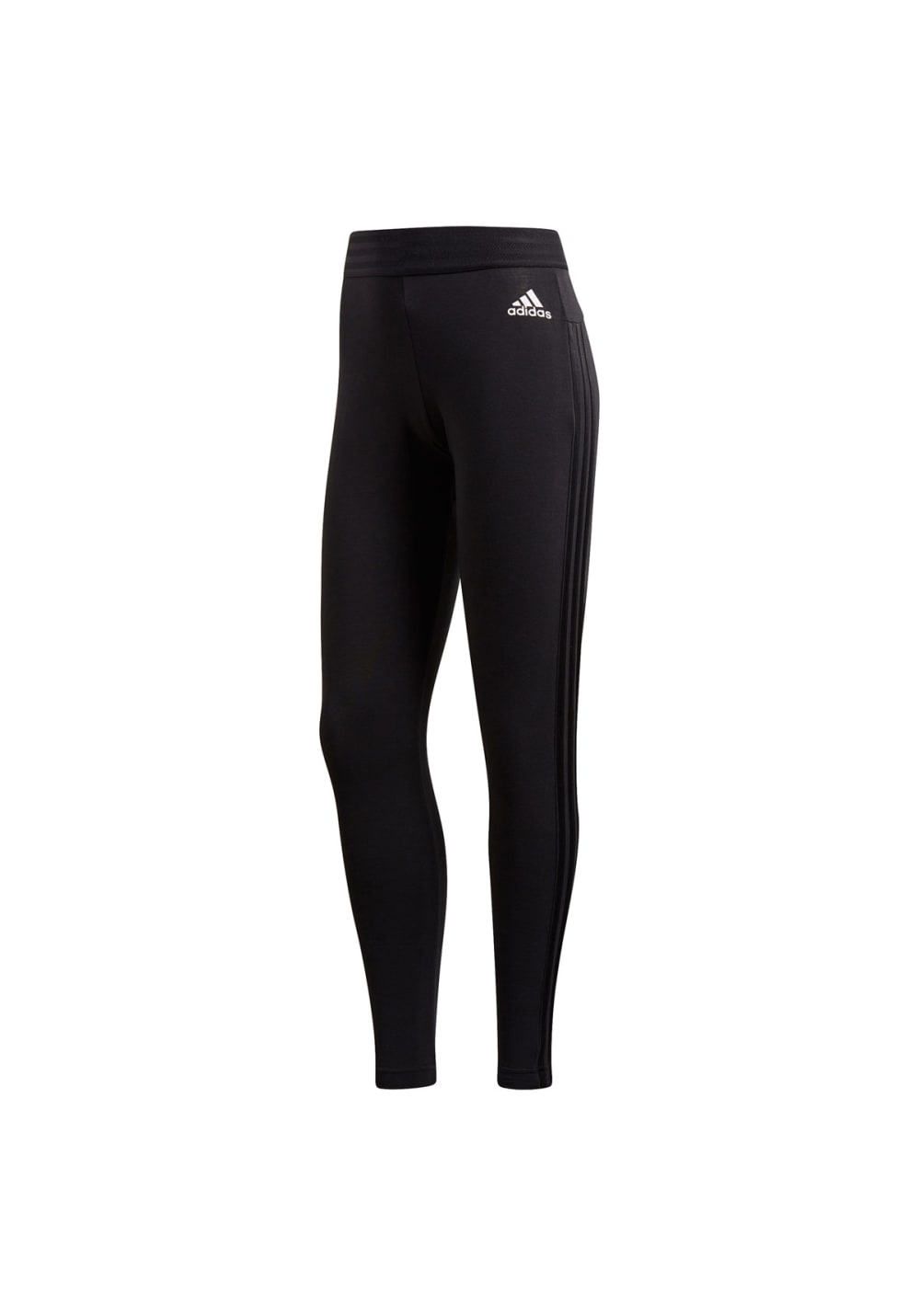 Sportmode für Frauen - adidas Essentials 3 Stripes Tights Laufhosen für Damen Schwarz  - Onlineshop 21Run