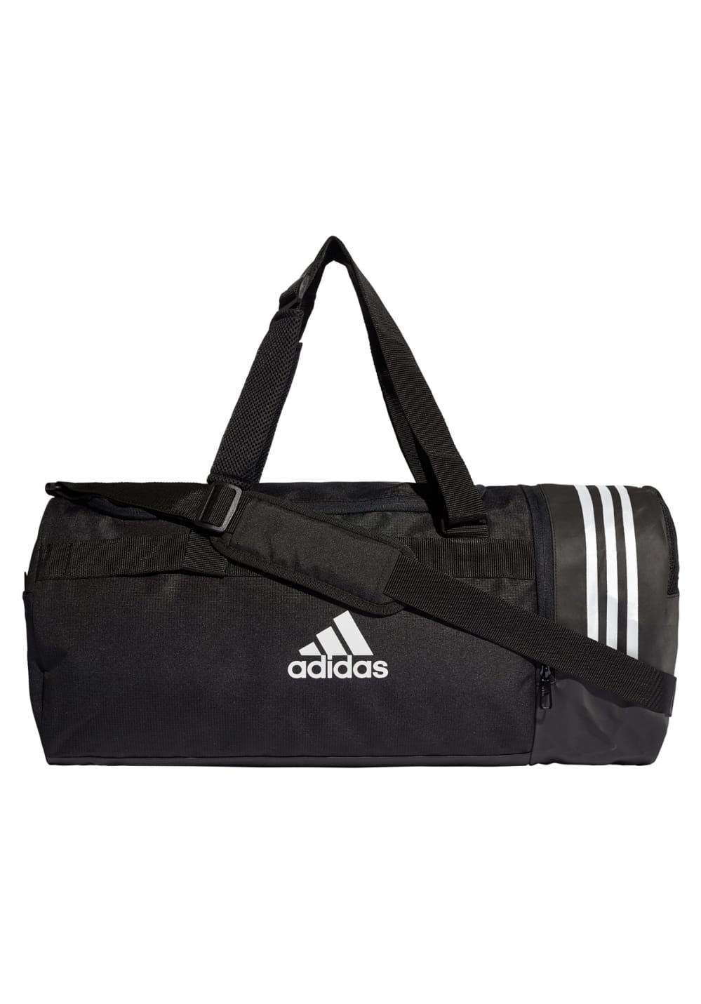 adidas Convertible 3-Stripes Duffel Bag Medium Sporttaschen - Schwarz