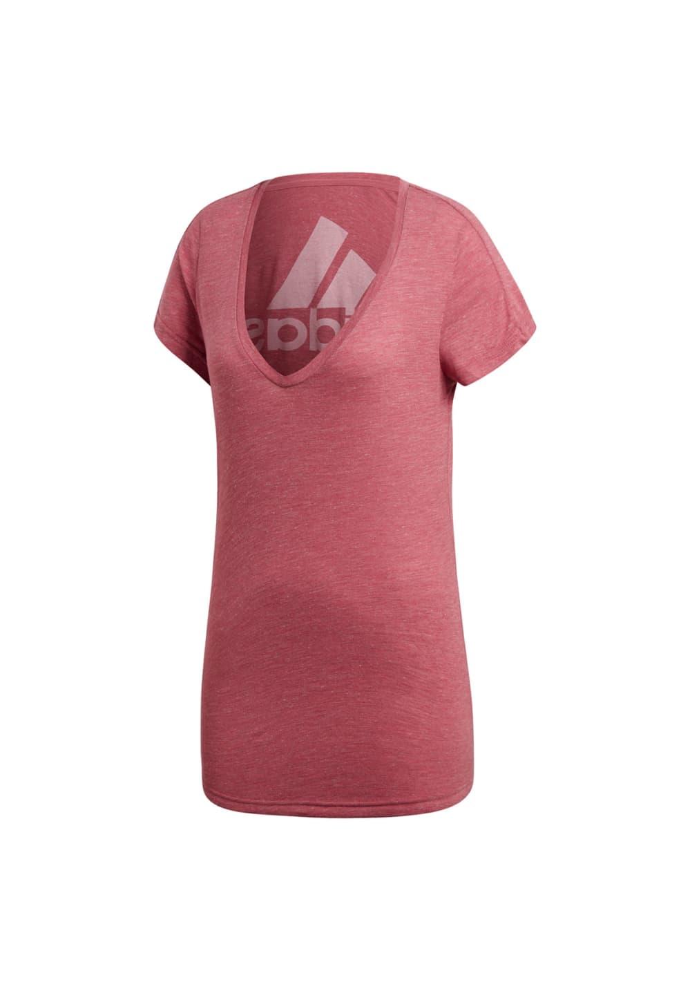 adidas Id Winners Tee - Laufshirts für Damen - Pink