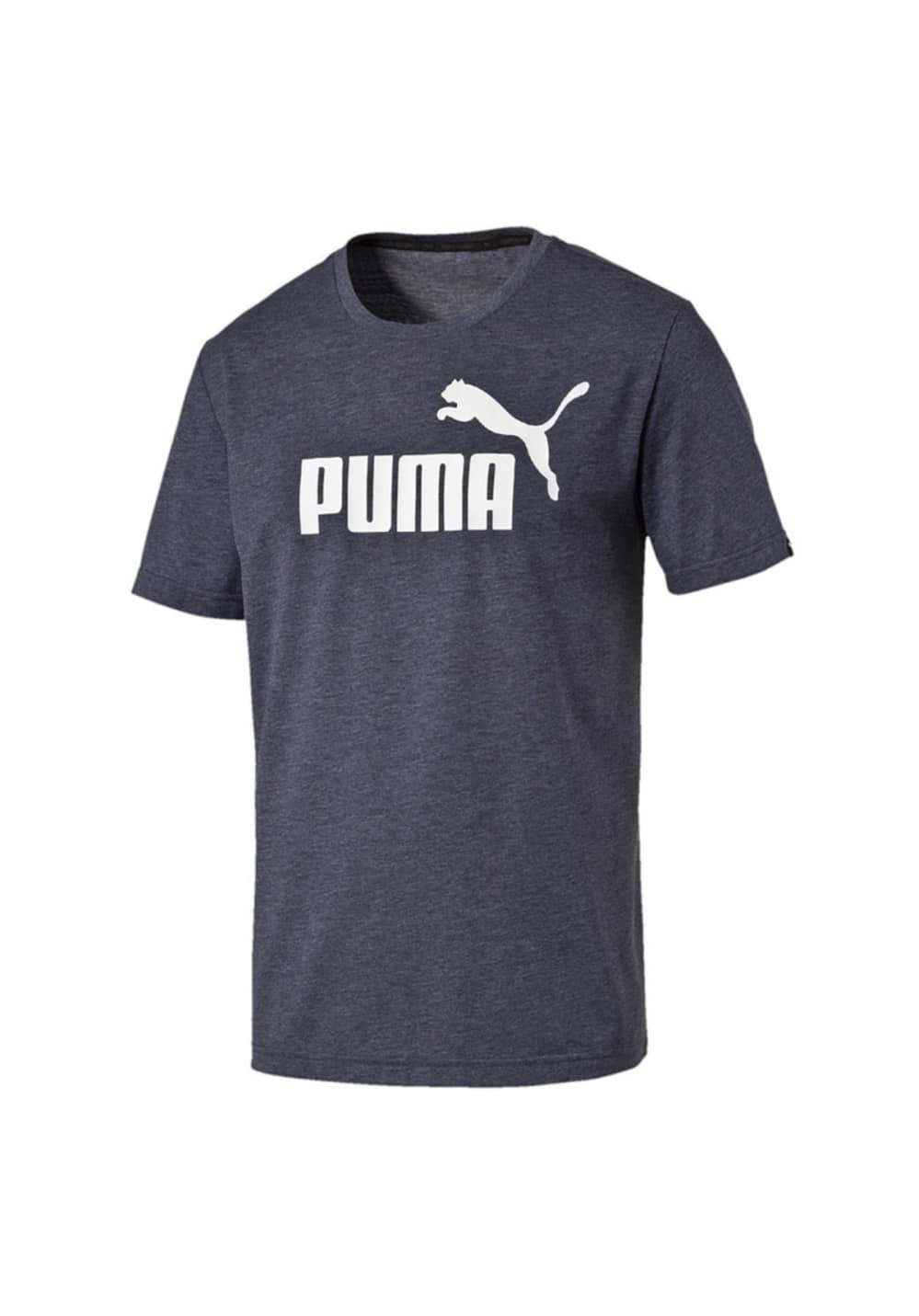 Puma Essential No.1 Heather Tee - Fitnessshirts für Herren - Schwarz, Gr. M