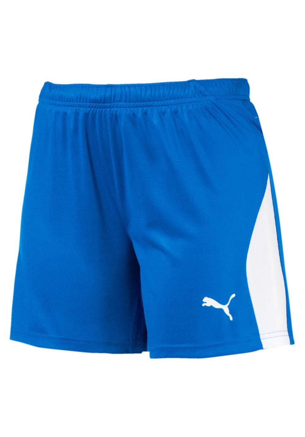 Sportmode für Frauen - Puma Liga Shorts Fitnesshosen für Damen Blau  - Onlineshop 21Run