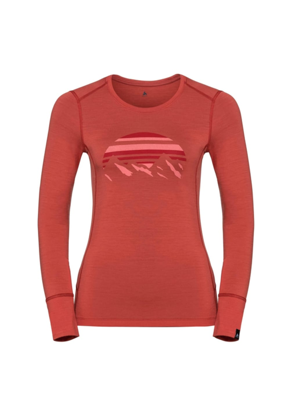 Odlo Top Crew Neck Long Sleeve Alliance - Laufshirts für Damen - Rot