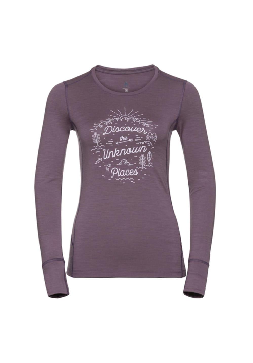 Odlo Top Crew Neck Long Sleeve Alliance - Laufshirts für Damen - Lila